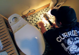 Pail Currie, Jr. fixes a leaky toilet in Griswold, CT